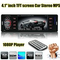 "2014 New 4.1"" TFT HD Screen Car Mp5 radio audio,12V Car player,Car stereo 1 Din,AUX in,FM radio, USB/SD,Remote Control"