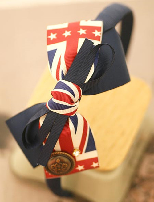 British Style The Union Flag Bow Hair Band Hair Bow Headbands For Women(China (Mainland))