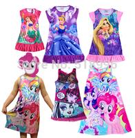 New Arrival  Brand Kids dress,4-16T monster high dress,Classie design, Girls Summer dress Cartoon Dress Top Quity