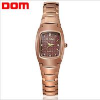 2014 Brand new DOM full tungsten steel quartz watches women fashion retro diamond relogio feminino luxury brand women wristwatch