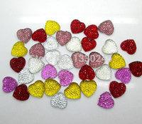 50шт Фуксия смолы сердце бисер пришивные кабошон записки ремесло