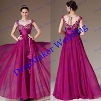 DBM068 Free Shipping New Style The Most Popular 2014 Designer Long Chiffon Prom Dresses Custom Made