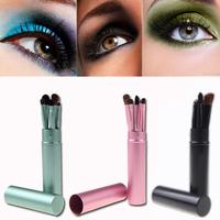 5PCS/Set Professional Pony Hair Eye Makeup Tool Eyeshadow Brushes Set Cosmetic Kit with Round Tube MAKE UP FOR YOU