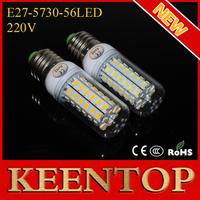 E27 SMD5730 56Leds 220V Max 18W Led Lights Corn Solar Bulbs Wall Lamps Energy Efficient Ceiling Spotlight Downlight 1Pcs/Lot