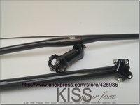 New mtb bike parts set carbon fibre riser handlebar + seatpost + stem=1 lot carbon parts