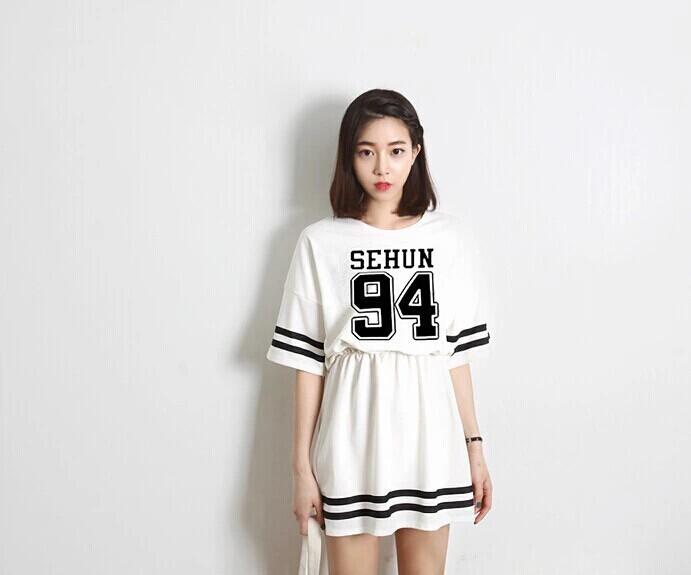 Женское платье EXO YOUTUBE, XIUMIN BTS printer youtube