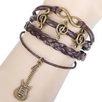 Sunshine jewelry store vintage music note , guitar , infinity bracelets bangles