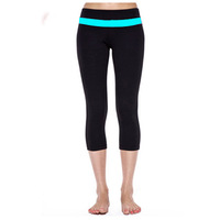 Most popular  design women fitness wear capris, supplex high end sports clothing women yoga capris