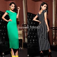 Hot Sale Summer New Fashion Slim V-Neck Dress Temperament Curves Sexy Short-Sleeved Dress Free Shipping