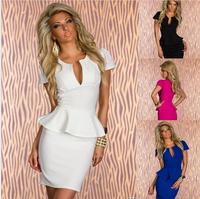 N-118 women new summer dress leaf lace sexy V-neck dress clubwear dresses white black sexy nightclub dress Plus Size M L XL XXL