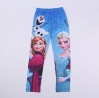 1pcs Spring/Autumn Baby Girl Leggings Frozen Legging Cotton Legging Kids   frozen elsa costume kids baby brand clothing