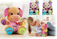 retail Dog Toys Baby Musical Plush Electronic Toys 34*26cm PInk Dog Singing English Songs Learning&Education Playing Puppy 793
