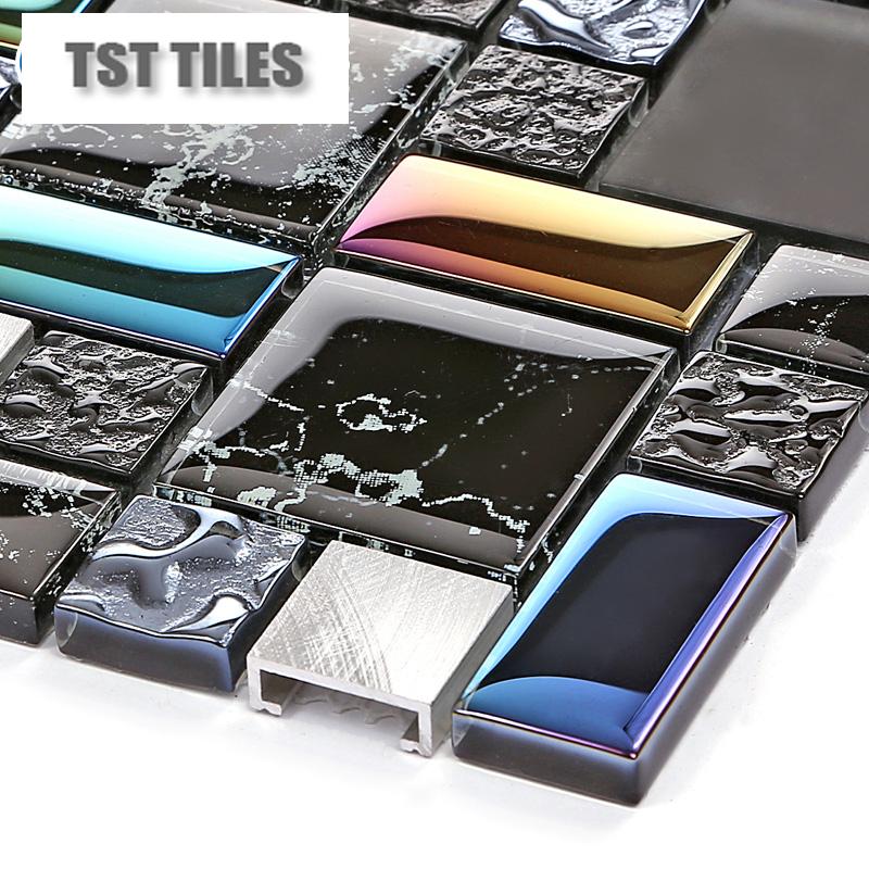 Azulejos Para Baños Hello Kitty:Metal Stone Glass Tile Backsplash