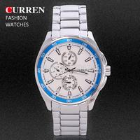 Curren Brand Men's Casual Watch Business Quartz Watch Men's Military Wristwatch Fashion Full Steel Watches MN4970