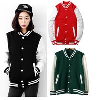 Baseball jacket casacos femininos college jackets Harajuku style women jacket 2014 new autumn winter coat Jackets free shipping