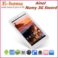 Fast Shipping 7 inch Ainol AX3 3G Sword Phone Call mini PC Tablets MTK8382 Quad Core 1GB RAM 16GB Android 4.2 WCDMA GPS FM