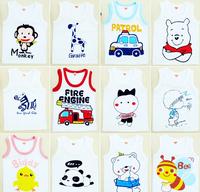 2014 Roupas Meninos Hot Sale Children Tank Cartoon Vest Sleeveless T Shirt Kids Summer Clothes Boy Girl Cotton Tee Free Shipping