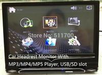9'' Car Headrest Monitor+9 Inch Car Headrest Monitor With MP3/MP4/MP5 Player,IR/FM,800x480,USB/SD/MS/MMC slot