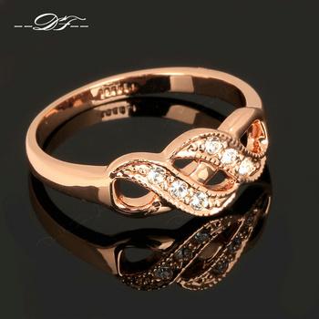 Кожаная обувь , ползунки диаманта CZ винтаж кольца перста 18 К позолоченные мода ...