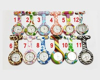 New Arrival Pocket Watches for Children Colorful Flower Pattern Doctor Nurse Watches Mix Order