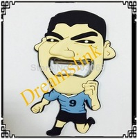 50 pcs  Brazil world cup souvenir the Suarez bottle opener creative bottle opener for gift collect with free shipping worldwide
