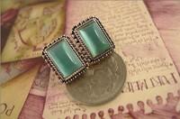 0.99$ 1 PCS Free Shipping Fashion Retro Pure Opal Earrings 2085