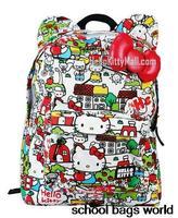 Apples Hello Kitty Bag Printing Backpack Fashion Mochilas Women Girls Femininas Big Sexy School Bag for Teenage Girl Laptop Bag