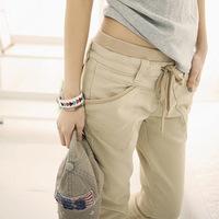 Spring harem pants female Korean wave elastic waist pants factories a generation of fat women 2869