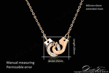Handcuffs Of Love CZ Diamond Necklaces Pendants 18K Gold Plated Fashion Brand Jewelry For Women Chains