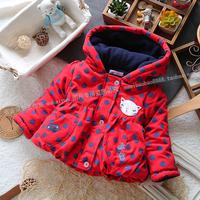Dongkuan girls coat  Princess Europe jacket  Dot baby girl clothes  Children's winter warm coat  Baby Jackets
