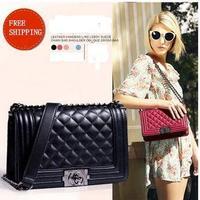 2014 Famous Brand Women Leather Handbag Classics plaid chains women handbag shoulder bag women messenger bag fashion women bag
