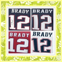 Lowest Price Elite Stitched #12 Tom Brady American Football Jerseys,New England Autographed 2014 New Jersey Size M-XXXL
