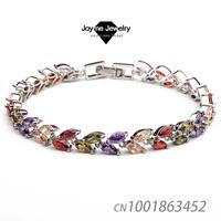 Joyme Brand 2014 New Arrival Cubic Zircon Stone Platinum Plated Chain & Link Bracelet luxury Jewelry for Women Bracelet & Bangle