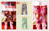 Spring 2014 Fashion Girl Leggings Print Floral Leggings Dance Kids Leggings Children Pants Children's Clothing