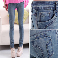2014 spring new female Slim skinny jeans pencil pants feet long stretch pants Korean version of the trend