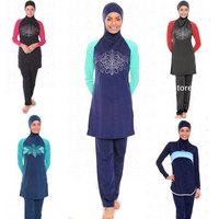 New 2014 Fashion Custom Muslim Islamic Swimwear For Women Swimsuit