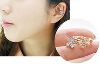 0.99$ 1 PCS Free Shipping Ladies Without Pierced Earrings U-Shaped Clip Earrings Ear Bone Folder Starfish One Single 2240