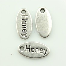 Charms HONEY 50pcs size:14*7mm No.GQ02464 Free Shipping DIY Retro Jewelry Braclet Necklace Antique silver