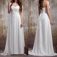 2014 New Fashion Floor-Length Chiffon Beach Dress Sexy Strapless Empire Beading Prom Dress Low Price Promotion