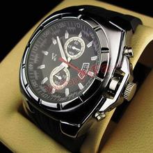 Famous Brand V6 Big Dial Watches Men Sport Quartz Relojes Deportivos Analog Display Rubber Wristwatch Luxury Montre Homme(China (Mainland))