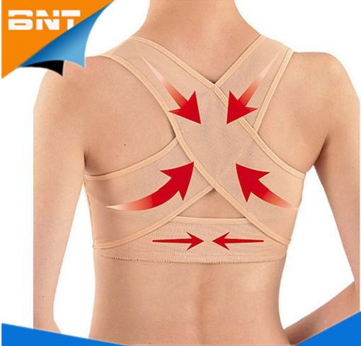 (Just 100pcs) New Women Adjustable Back Support Belt Posture Corrector Brace&Support Posture Shoulder Corrector for Health Care(China (Mainland))