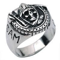 Free Shipping! 3pcs Samcro Reaper Ring Skull Stainless Steel Antique Black Silver MER203