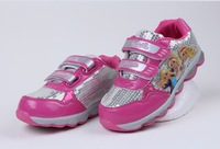New Children Girls Sneaker Shoes Kids Autumn Waterproof Sports Casual Shoes Fashion Elsa Anna Shoes Hook&Loop