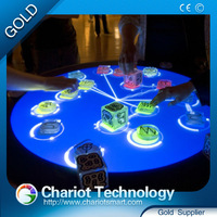 Chariot Hot product glass table interactive bar, commercial bar counters