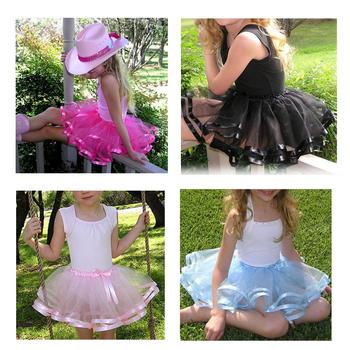 Монетный двор атласной лентой край розовый юбки и ленты отделкой детей юбки лето пушистый пачки юбки