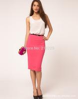 Newest Summer Korean Fashion Women's Skirt High Waist Tight Skirts Juniors Hip Wrap Solid 7 Colors Mixed Batch WQZ14019OL