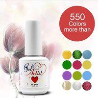 12pcs Gelartist LED Nail Polish and  hot sales (10colors+1top coat +1base coat)wonderfully gel nail polish