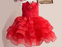 New Baby Party Dress Exquisite Girl's Celebrity Princess Dresses Sleeveless Flower Girl's Dress Children Tutu Evening Dress