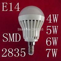 10pcs/lot LED lamps E14 4W 5W 6W 7W 2835SMD led lights cold white/warm white AC220V led bulb #1470711