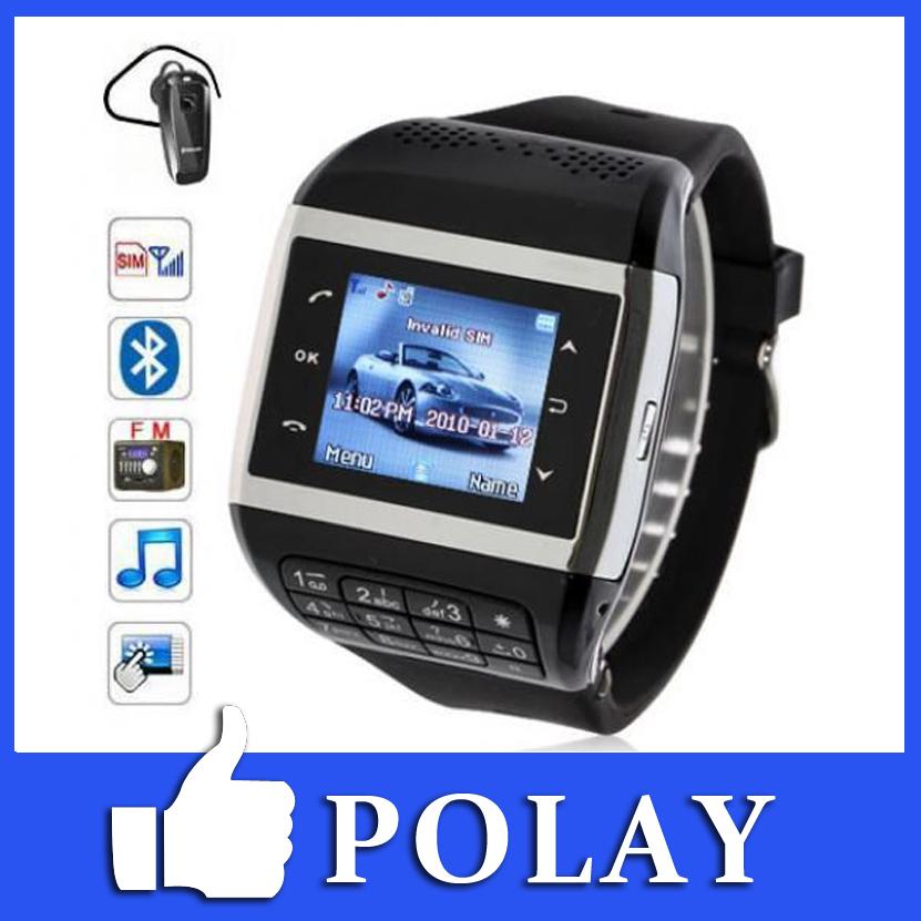 """Déverrouiller puce montre téléphone mobile gsm q5 512mb 1.4"""" écran tactile avec clavier, bluetooth, fm, mp 3, mp 4, e- livre, mms, horloge russe"""